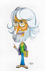 Caricatura Enric Larreula dibuixada per en Melo