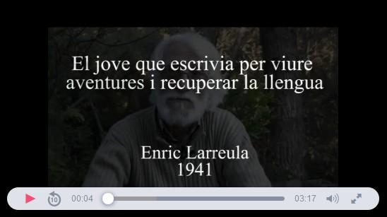 memoro_org_entrevista_enric_larreula_el_jove_que_escrivia_per_viure_aventures_i_recuperar_la_llengua