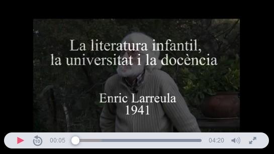 memoro_org_entrevista_enric_larreula_la_literatura_infantil_la_universitat_i_la_docencia